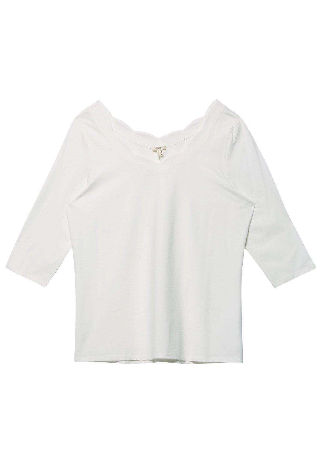 Esprit MIT BOGEN-AUSSCHNITT - Longsleeve - off white