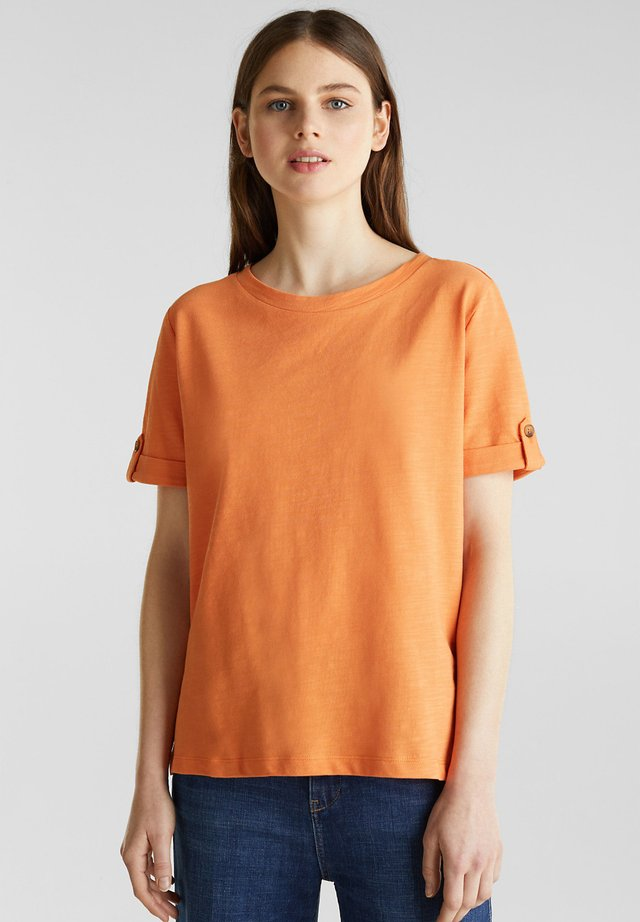 T-shirt - bas - rust orange