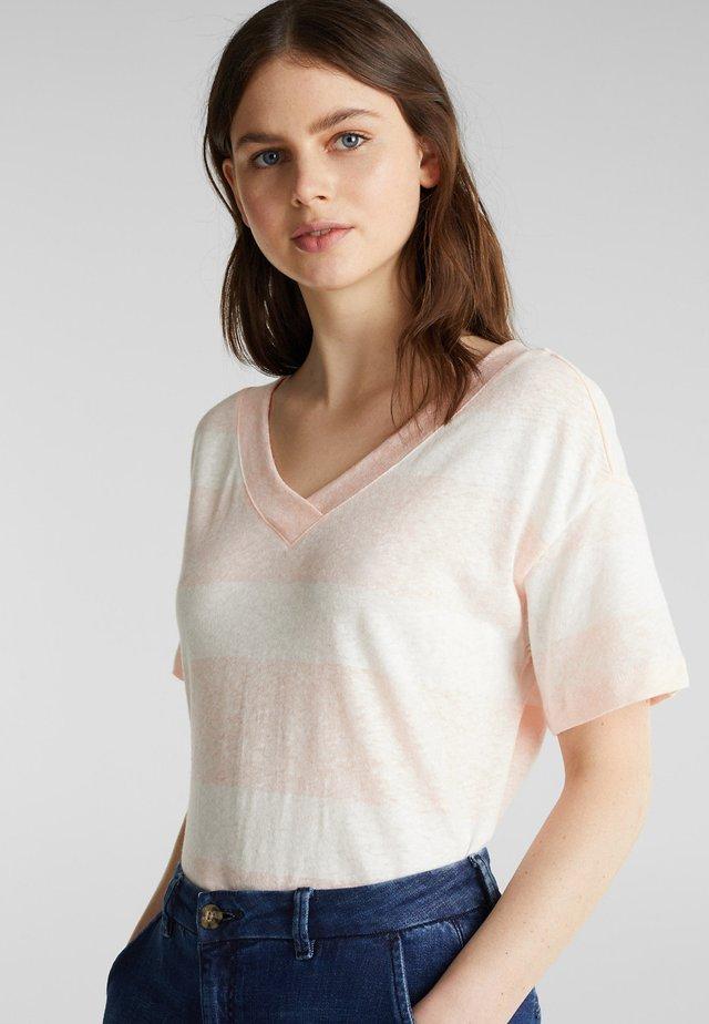 BLOCKSTRIPE T-SHIRT - T-shirt med print - peach