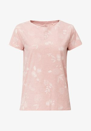 MELIERTES PRINT-SHIRT MIT BIO-BAUMWOLLE - T-Shirt print - peach