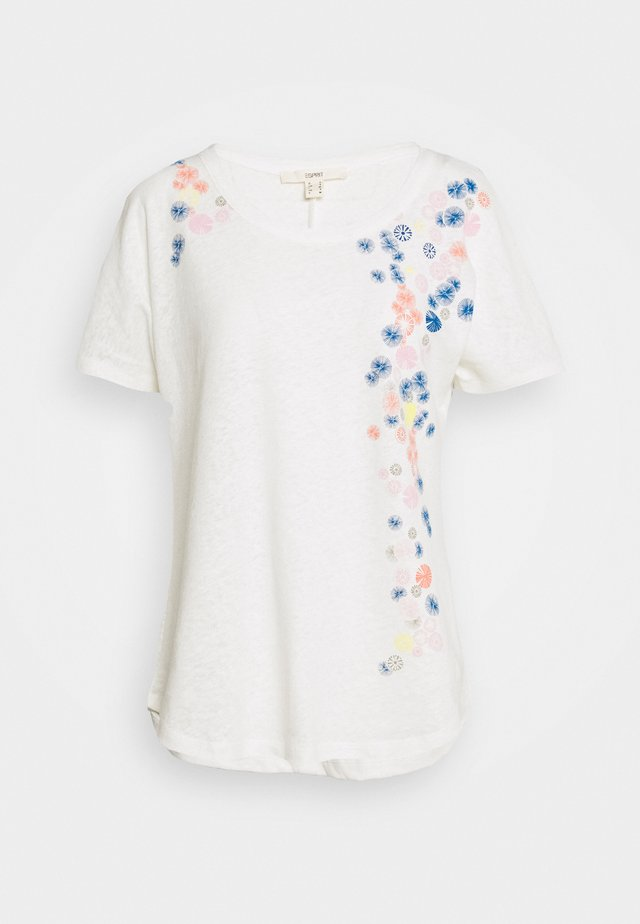 T-shirt med print - off white