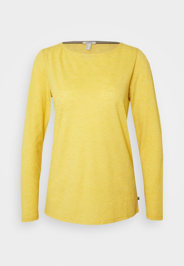 Long sleeved top - brass yellow