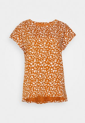 CORE  - T-shirt con stampa - rust brown