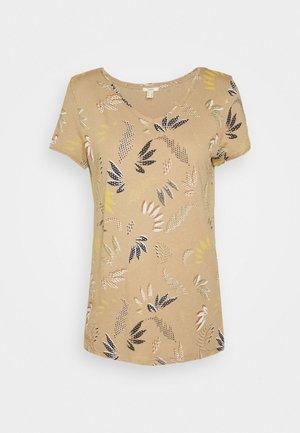 LEAF TEE - T-shirt con stampa - beige