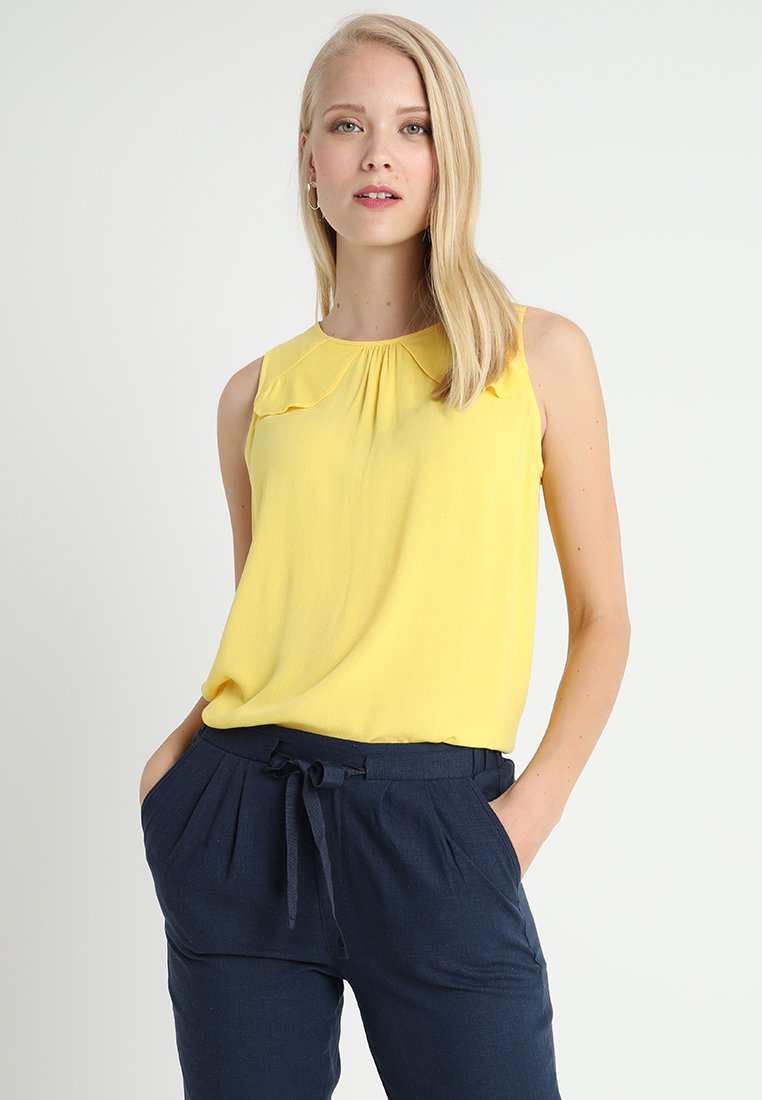 Esprit - RAYON CREPE - Blouse - yellow