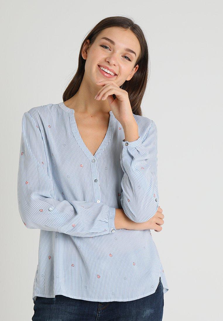 Esprit - STRIPE - Bluse - light blue