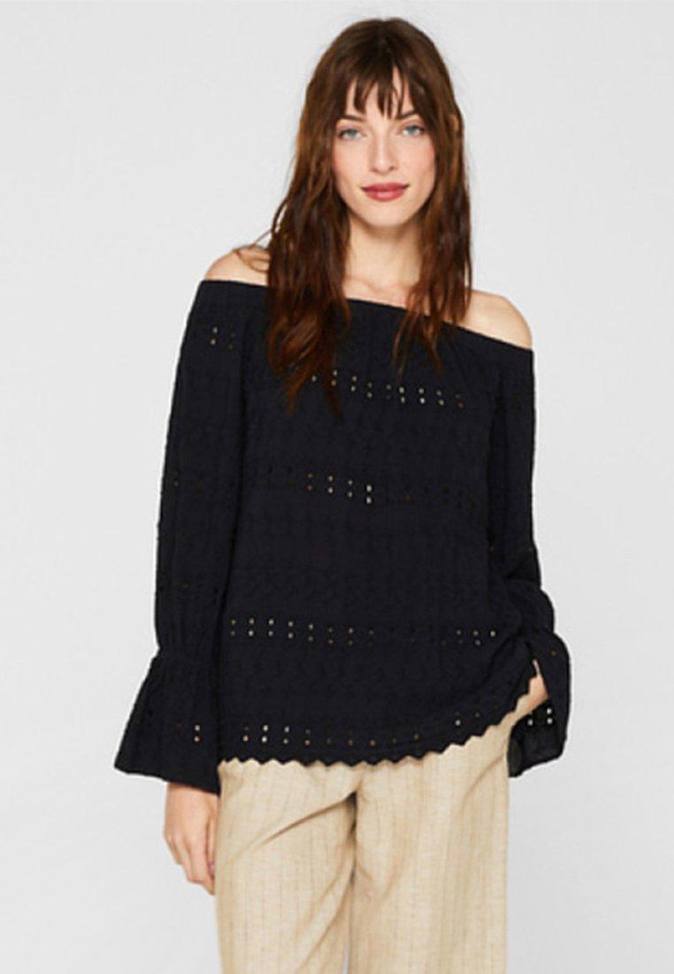 Esprit - MIT STICKEREI - Bluse - black