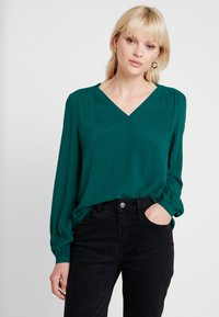 Esprit - CASUAL DOBBY - Tunic - bottle green - 0