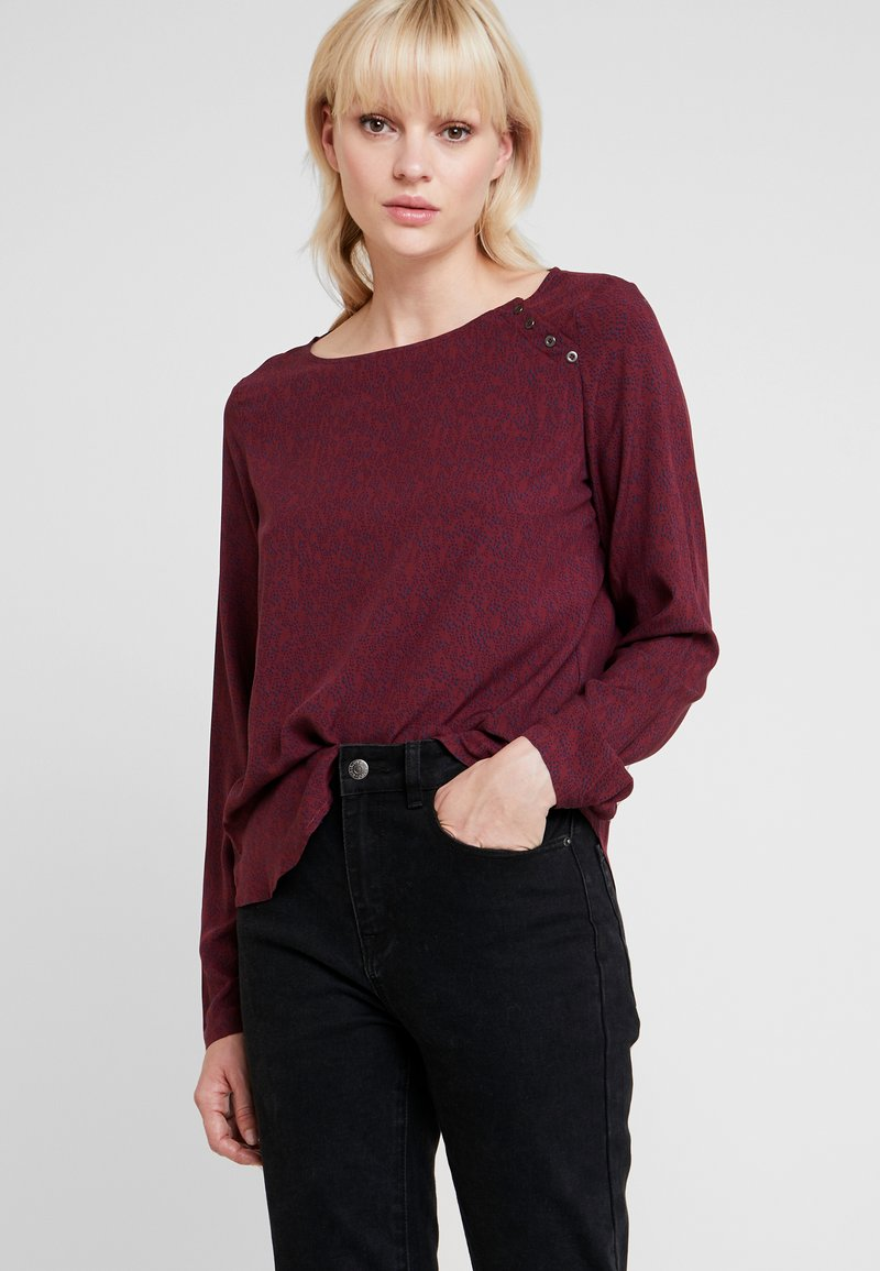 Esprit - FLUID - Bluse - garnet red