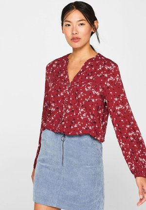 Blouse - garnet red