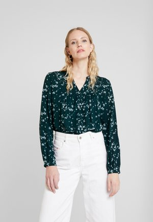 Blouse - dark teal green