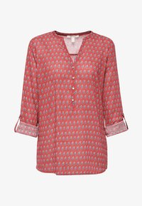 Esprit - MIT TURN-UP-ÄRMELN - Blouse - red - 5