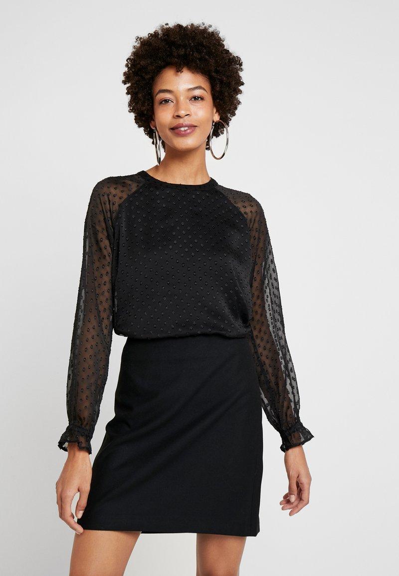 Esprit - DOBBY - Blouse - black