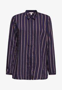 Esprit - MIT VERDECKTER KNOPFLEISTE - Button-down blouse - navy - 5