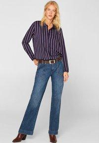 Esprit - MIT VERDECKTER KNOPFLEISTE - Button-down blouse - navy - 1