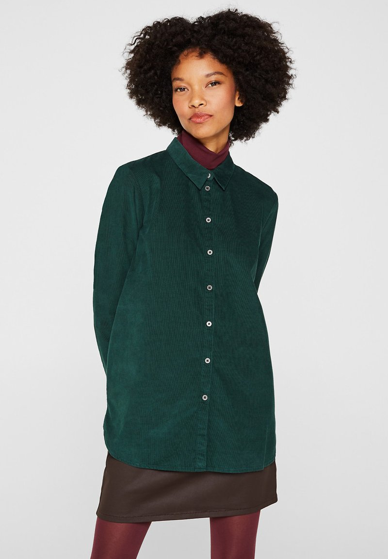 Esprit - Button-down blouse - dark teal green