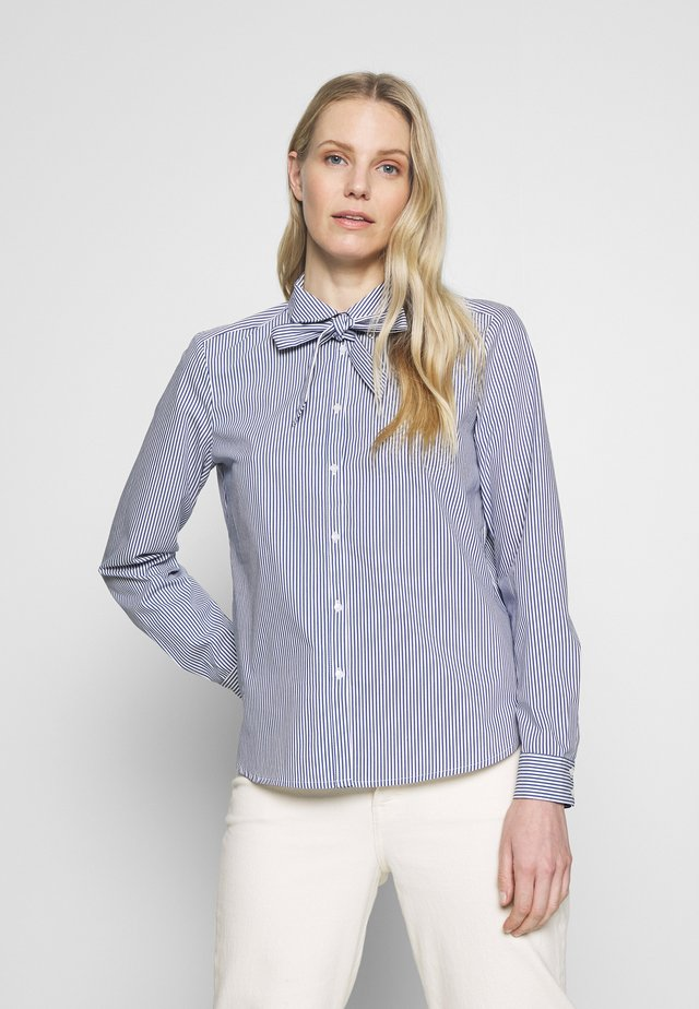 BOW - Button-down blouse - navy