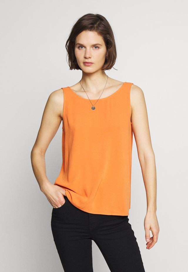 CORE RAYON CRÊP - Blusa - rust orange