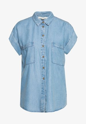Button-down blouse - blue light wash