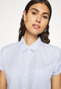 Esprit - PINSTRIPE - Button-down blouse - light blue - 3