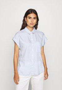 Esprit - PINSTRIPE - Button-down blouse - light blue - 0