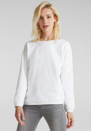 SWEATSHIRT MIT RÜCKEN-AUSSCHNITT, 100% BAUMWOLLE - Sweater - white