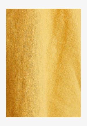 AUS LEINEN-MIX: LÄSSIGE HEMDBLUSE - Hemdbluse - honey yellow