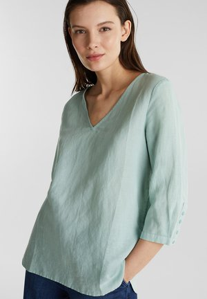 MIT 3/4-ÄRMELN - Blouse - light aqua green