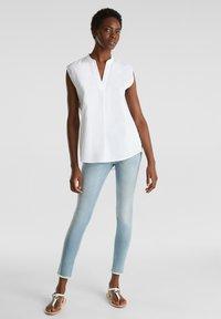 Esprit - BLUSEN-TOP AUS 100% BIO-BAUMWOLLE - Camicetta - white - 1