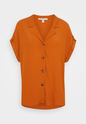 Button-down blouse - rust brown