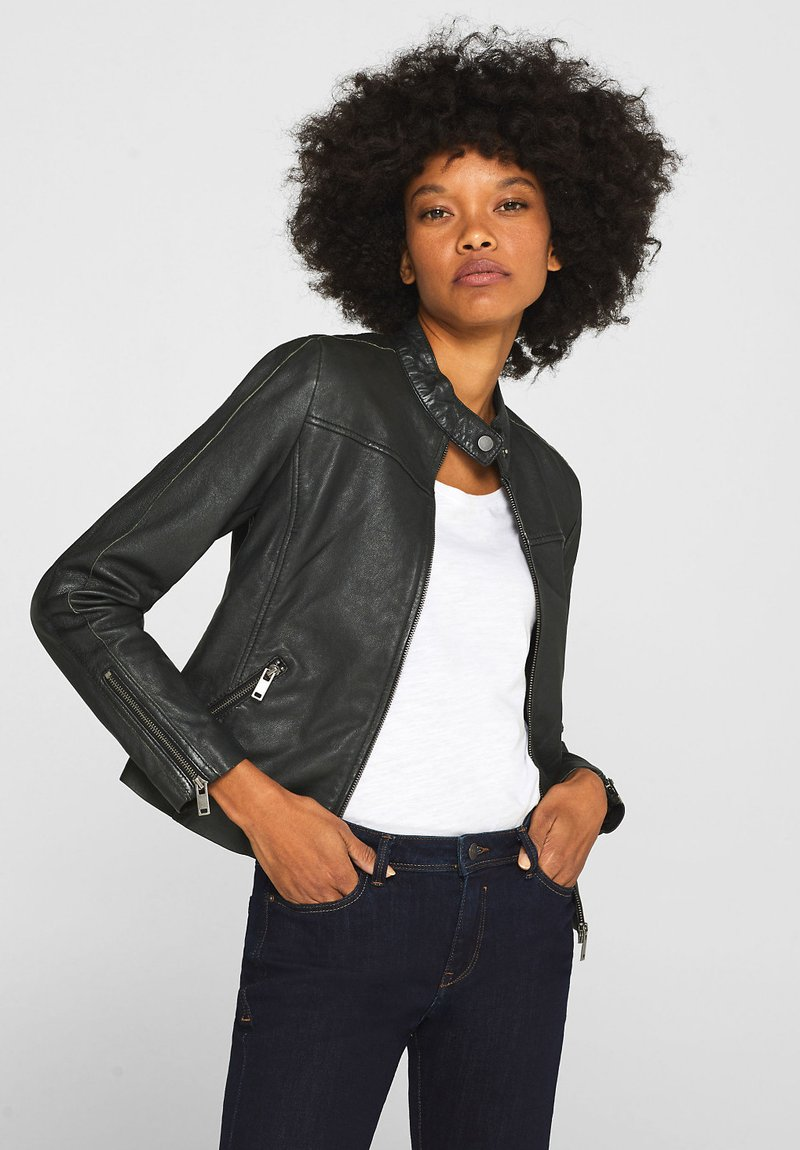 Esprit - Leather jacket - anthracite