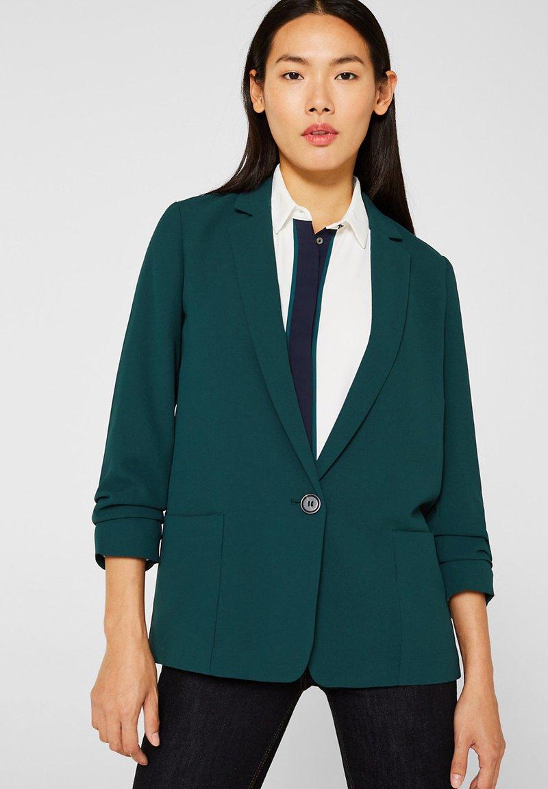 Esprit - FASHION  - Blazer - dark teal green