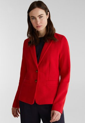 TAILLIERTER PIQUÉ-STRETCH-BLAZER - Blazer - dark red