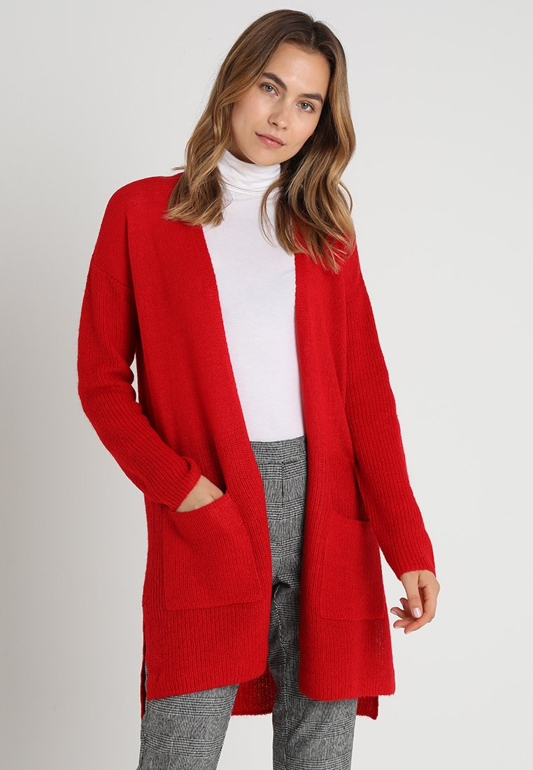 Esprit - CARDI OPEN - Strickjacke - red