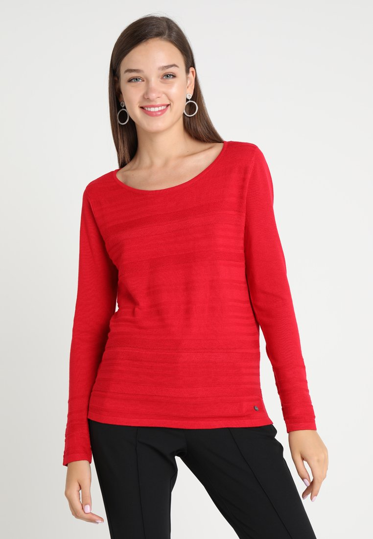 Esprit - STRUCTURE - Strickpullover - red