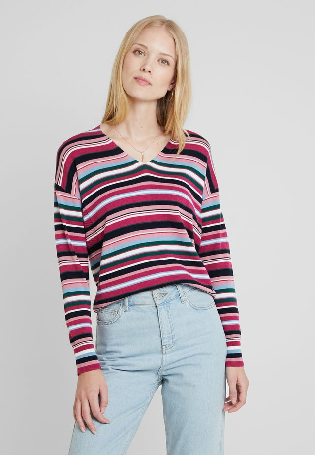 Stickad tröja - dark old pink