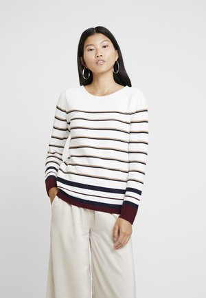STRIPED - Strikkegenser - off white
