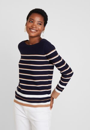 STRIPED - Sweter - navy