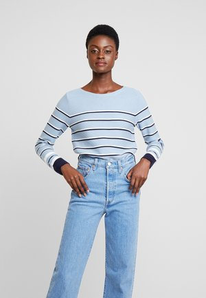 STRIPED - Neule - light blue
