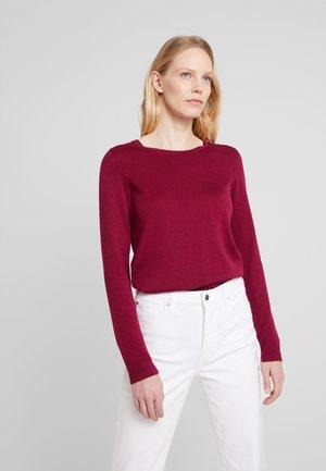 Strickpullover - garnet red