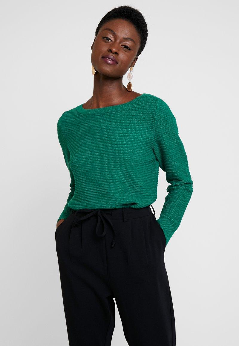 Esprit - OTTOMAN - Strikkegenser - dark green