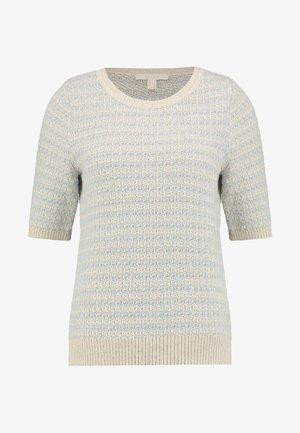 T-shirt med print - cream beige