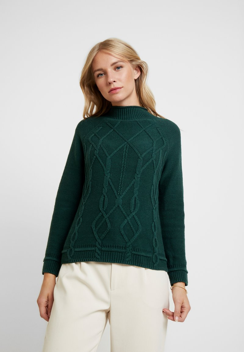 Esprit - CABLE - Jumper - dark teal green