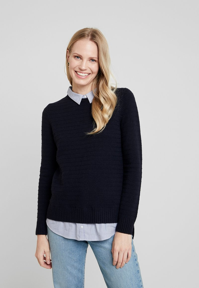 Esprit - SWEATER FABMIX - Maglione - navy