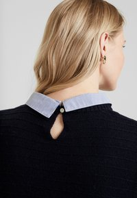 Esprit - SWEATER FABMIX - Maglione - navy - 5