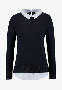 Esprit - SWEATER FABMIX - Maglione - navy - 4