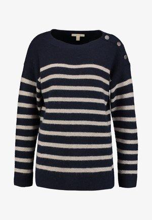 STRIPE - Pullover - navy