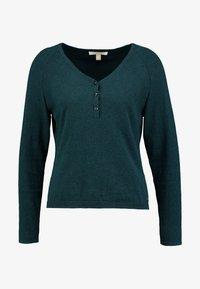 Esprit - HENLEY - Neule - dark teal green - 4