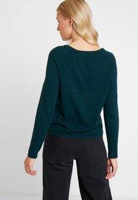 Esprit - HENLEY - Neule - dark teal green - 2