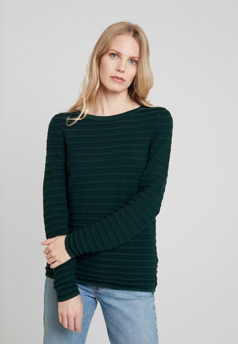 Esprit - BOATNECK - Stickad tröja - bottle green